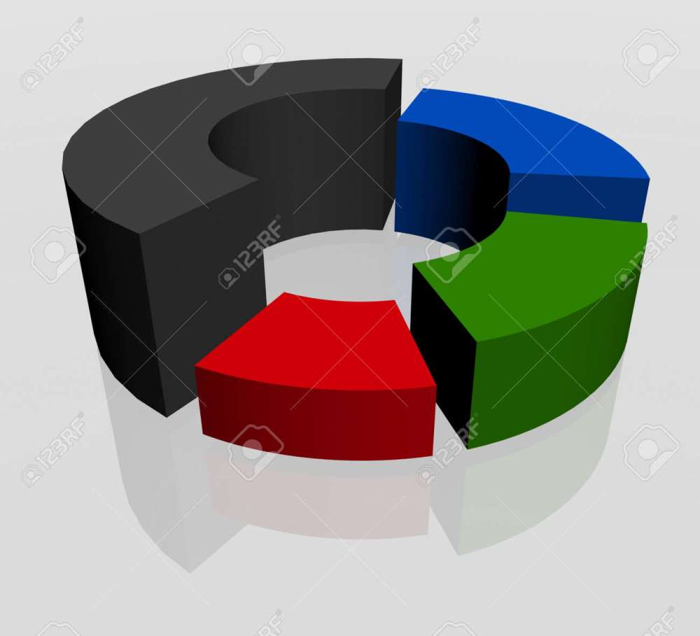 medium resolution of 3d circular diagram on white background stock photo 12050666