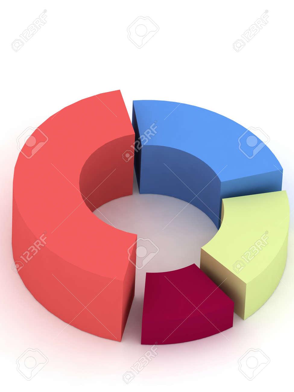medium resolution of 3d circular diagram on white background stock photo 12051681