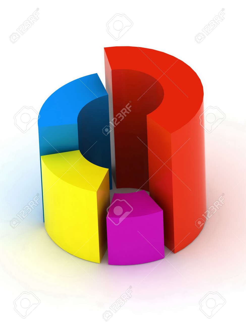 medium resolution of 3d circular diagram on white background stock photo 12406071
