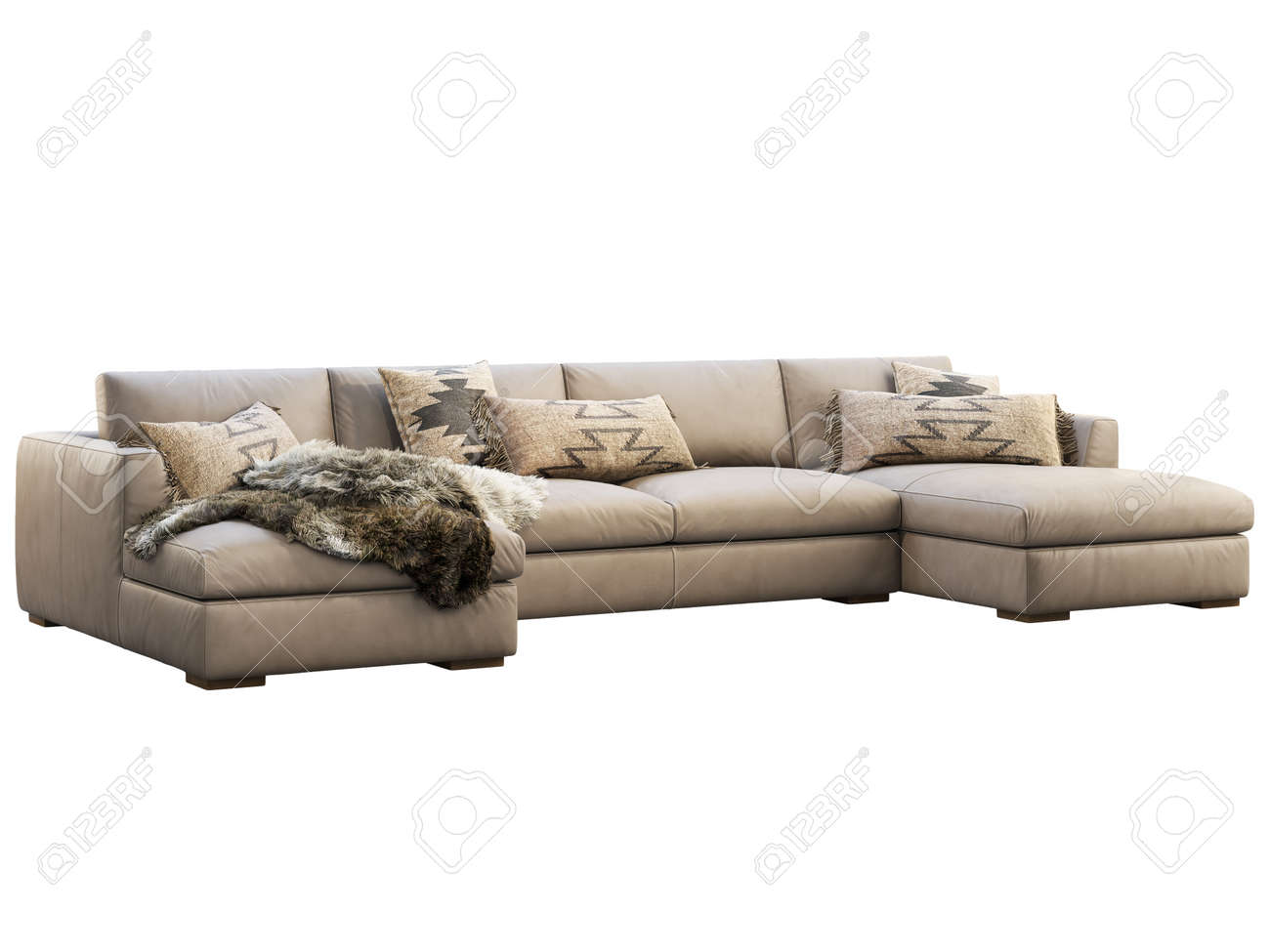 chalet modular leather sofa with chaise lounge leather upholstery