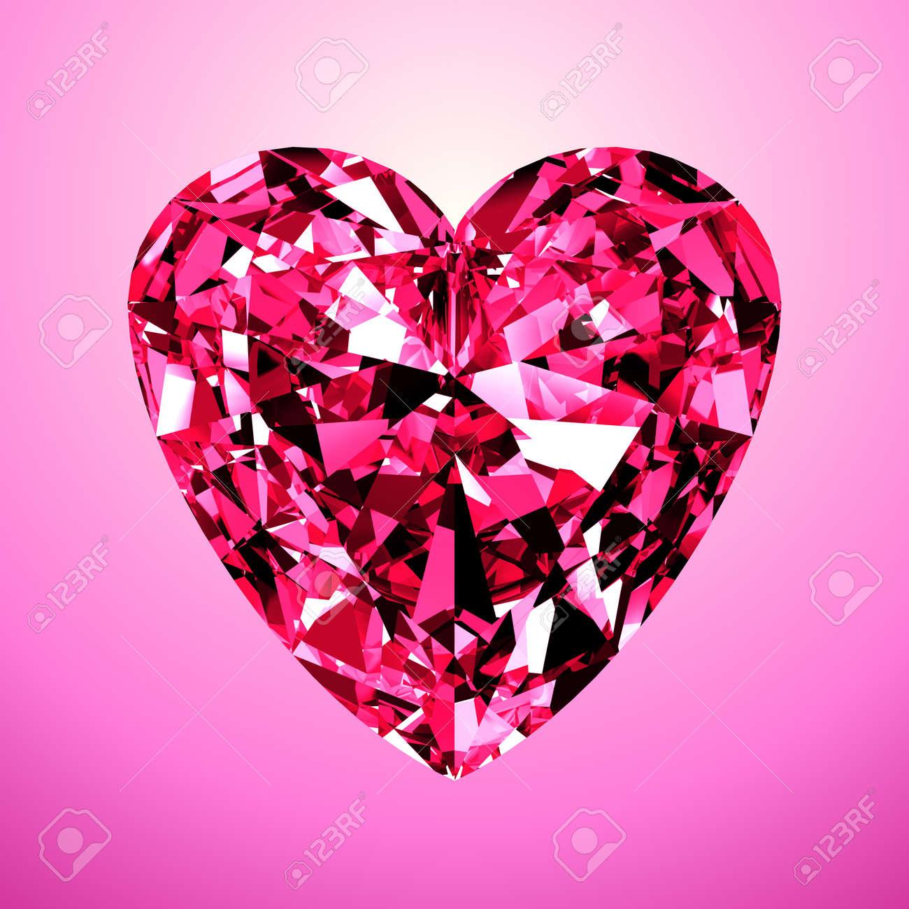 corazón del diamante rosa