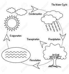 schematic representation of the water cycle in nature illustration of diagram water cycle cycle [ 1300 x 1300 Pixel ]