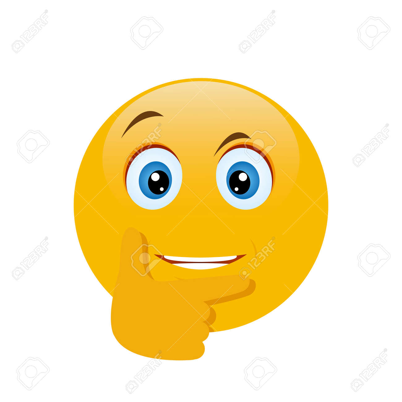 thinking face emoji with