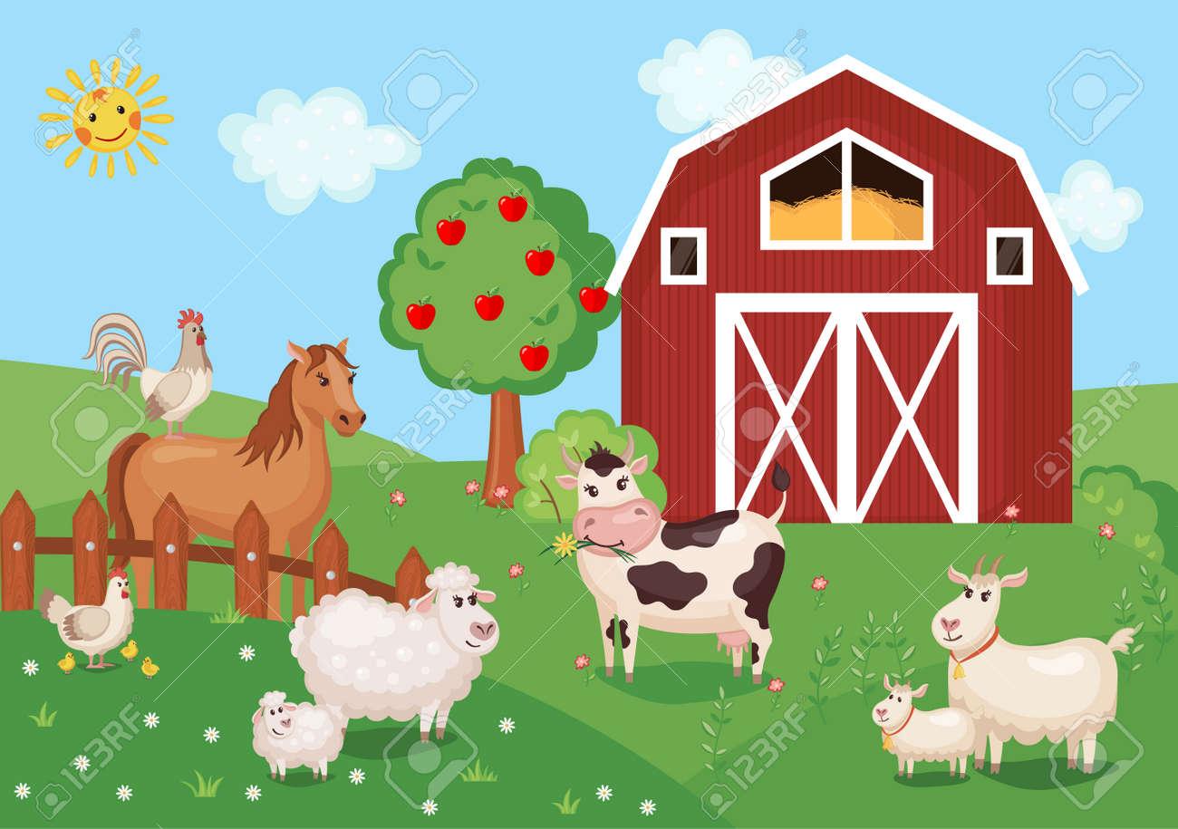ilustración con animales de