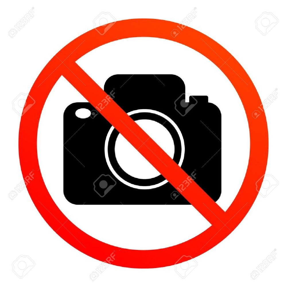 medium resolution of no photography sign stock vector 13895757