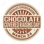 Chocolate Covered Raisins Day March 24 Rubber Stamp Vector Royalty Free Cliparts Vectors And Stock Illustration Image 95296796