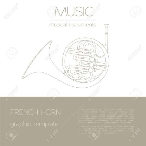 small resolution of musical instruments graphic template french horn vector illustration stock vector 47951810