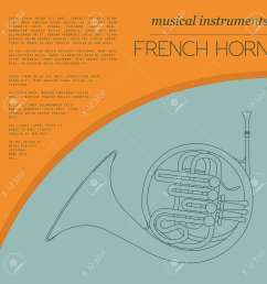 musical instruments graphic template french horn vector illustration stock vector 47951787 [ 1300 x 1300 Pixel ]