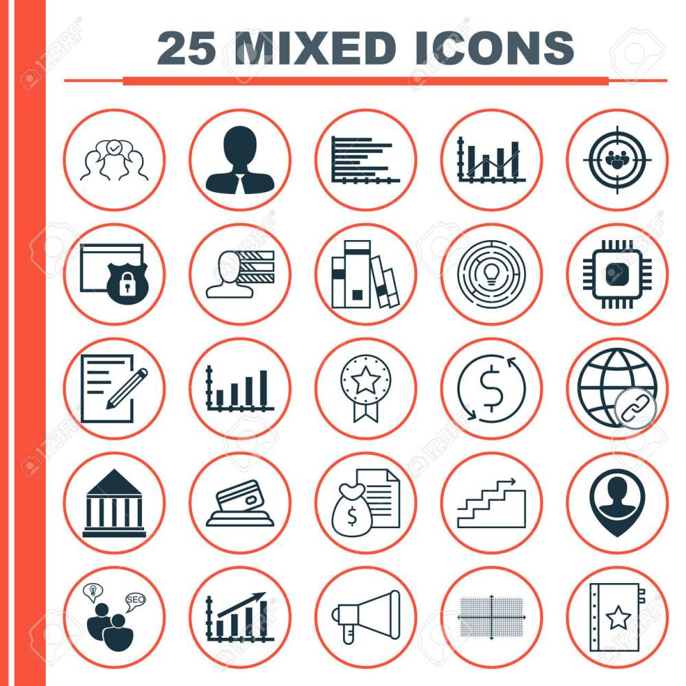 medium resolution of set of 25 universal icons on square diagram chip report and more topics