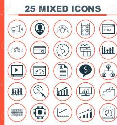 set of 25 universal icons on tree structure analytics keyword optimisation and more topics [ 1300 x 1300 Pixel ]
