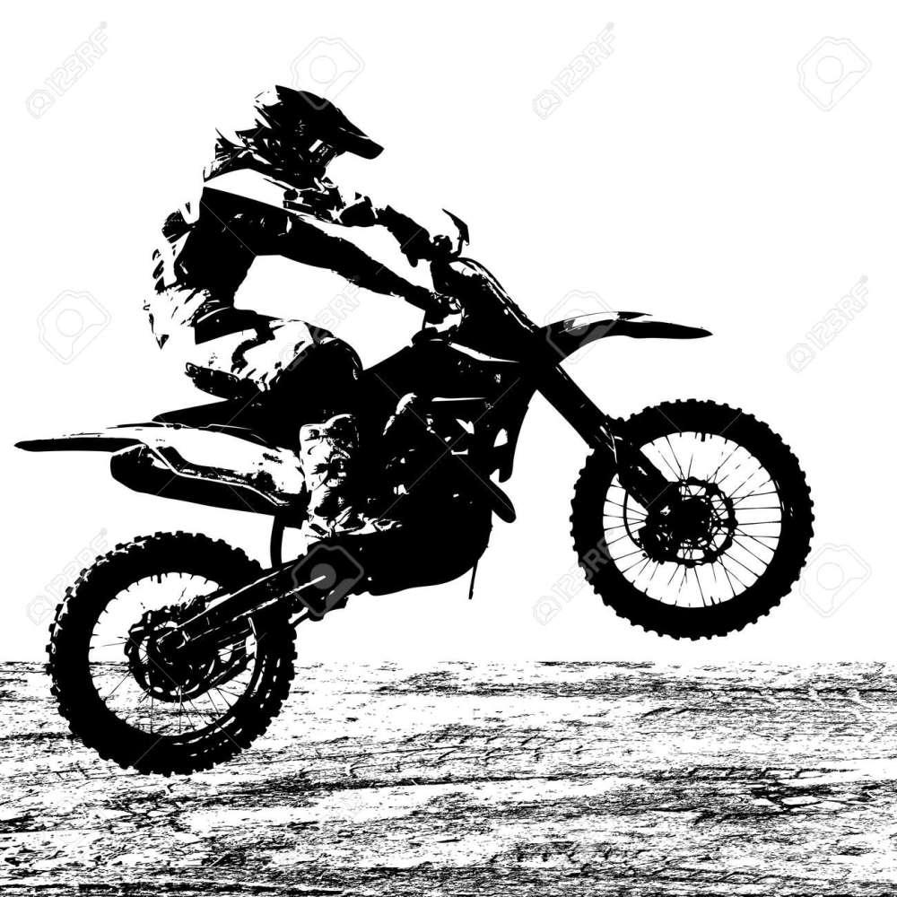 medium resolution of rider participates motocross championship vector illustration