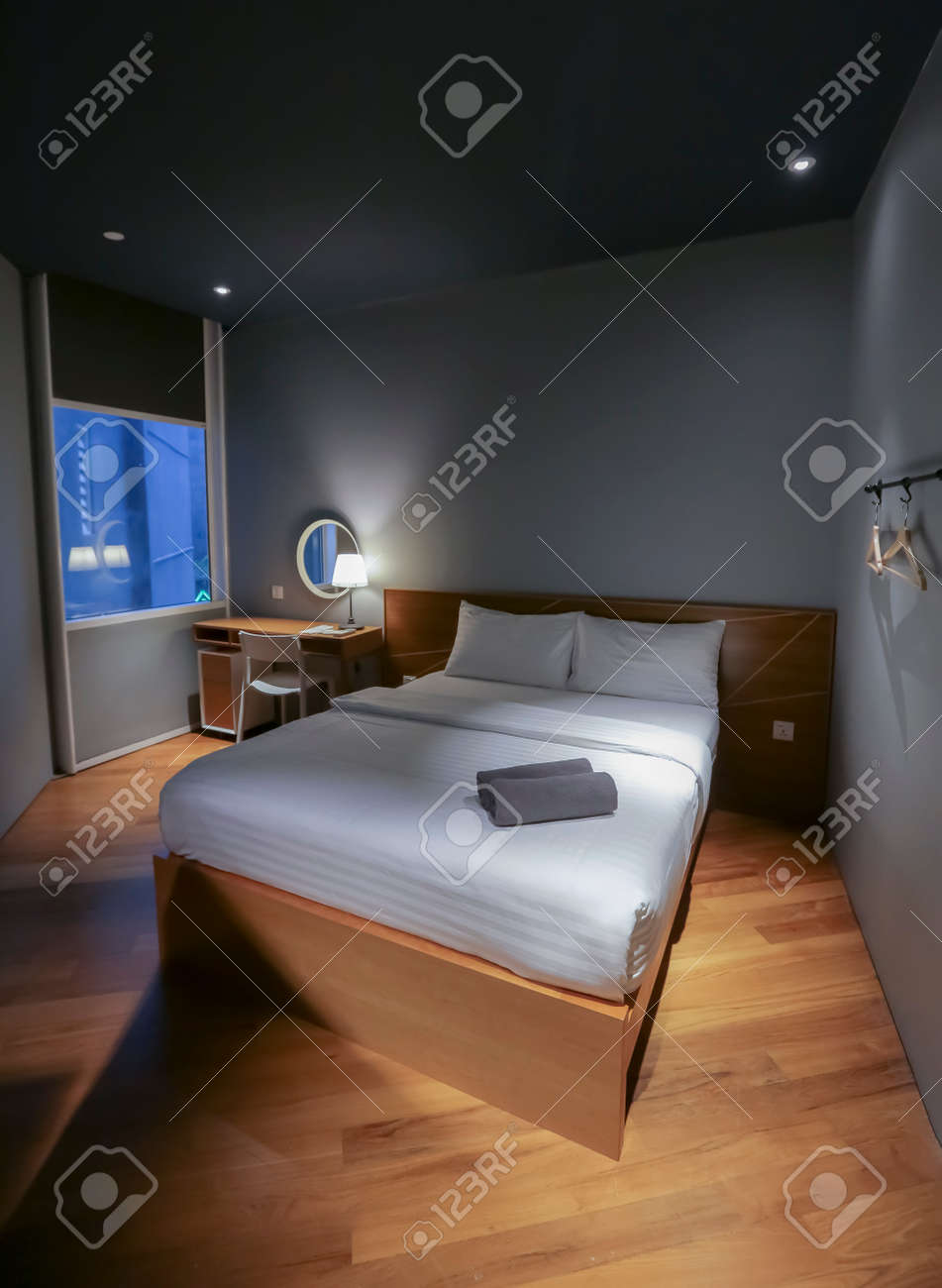 Kuala Lumpur Malaysia October 12 2017 White Pillow On Bed Stock Photo Picture And Royalty Free Image Image 122153753