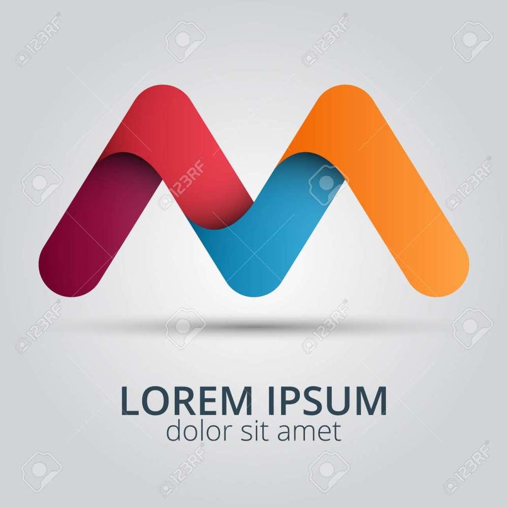 medium resolution of letter m logo icon design template elements creative design icon illustration