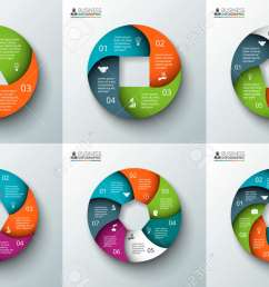 template for cycle diagram graph presentation and round chart business concept with 3 4 5 6 7 and 8 options parts steps or processes  [ 1300 x 866 Pixel ]
