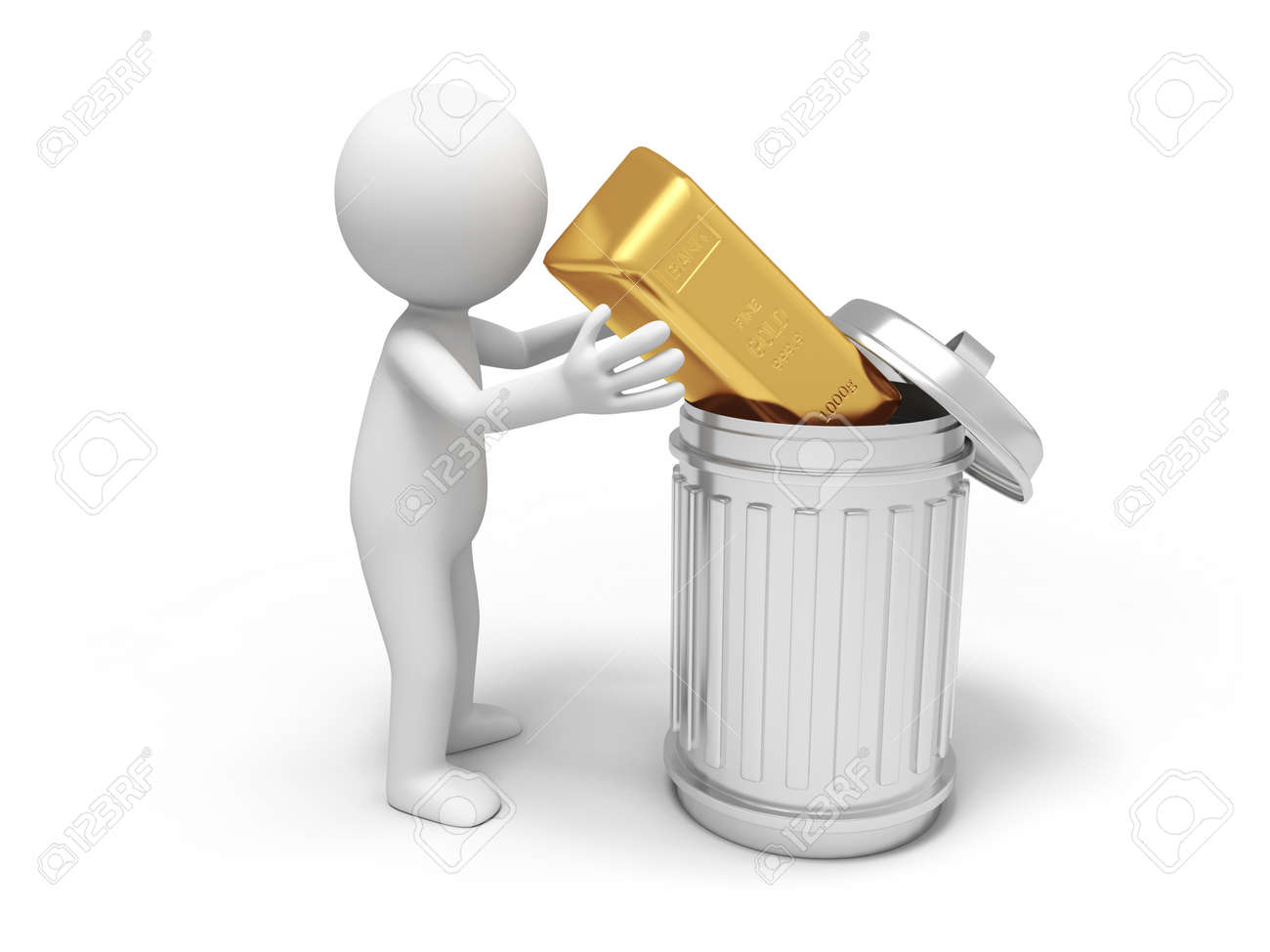Image result for gold in trash