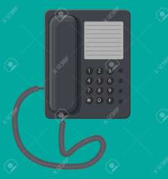 office black wired phone stock vector 83959984 [ 1270 x 1300 Pixel ]