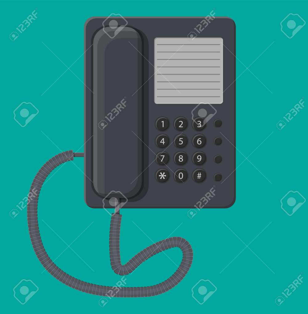 medium resolution of office black wired phone stock vector 83959984