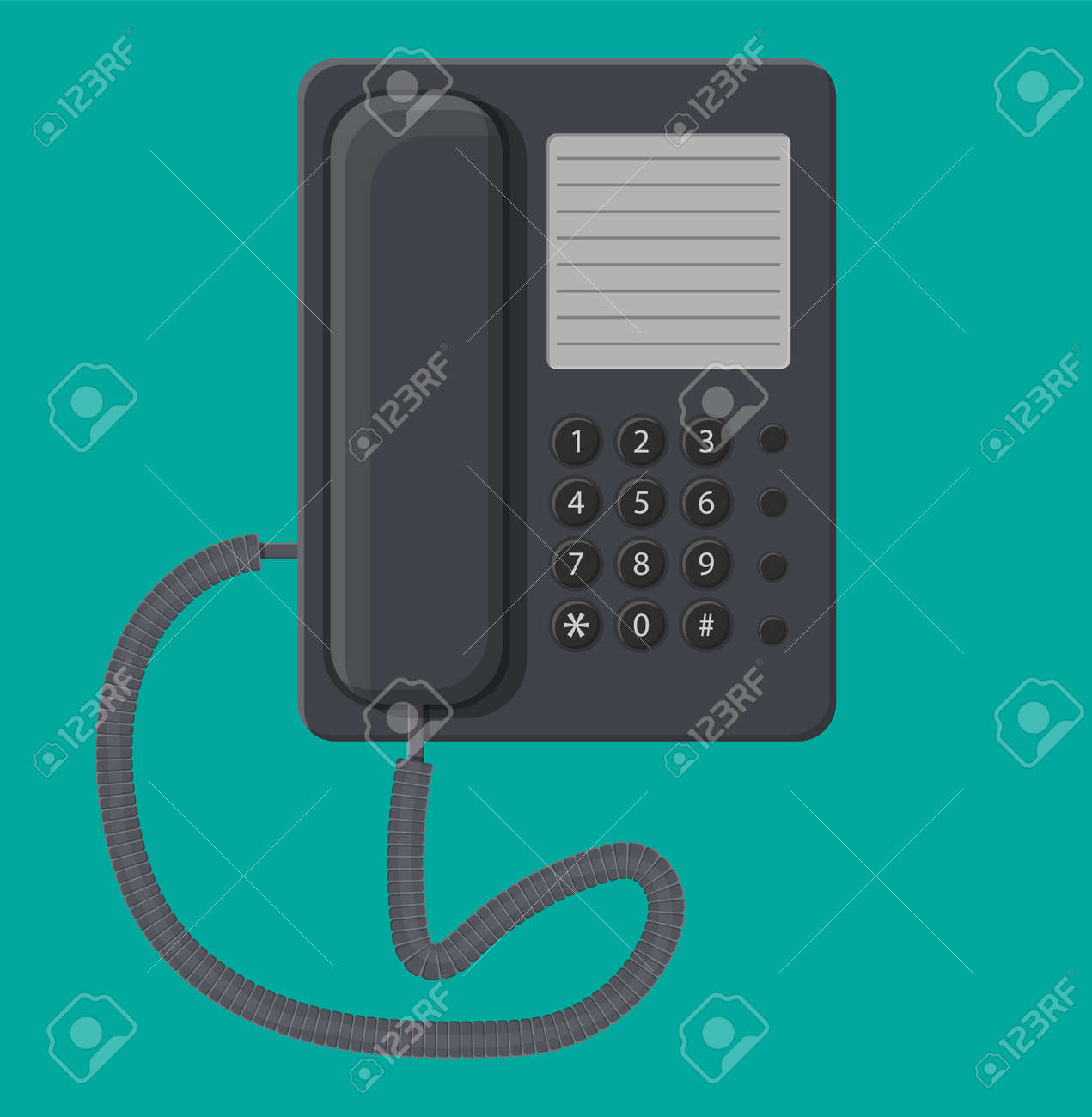 hight resolution of office black wired phone stock vector 83959984
