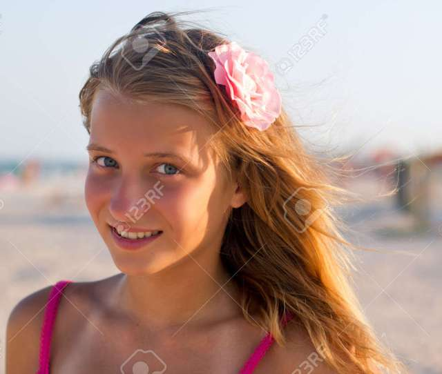 Portrait Of A Smiling Cute Teen Girl Stock Photo 15688095