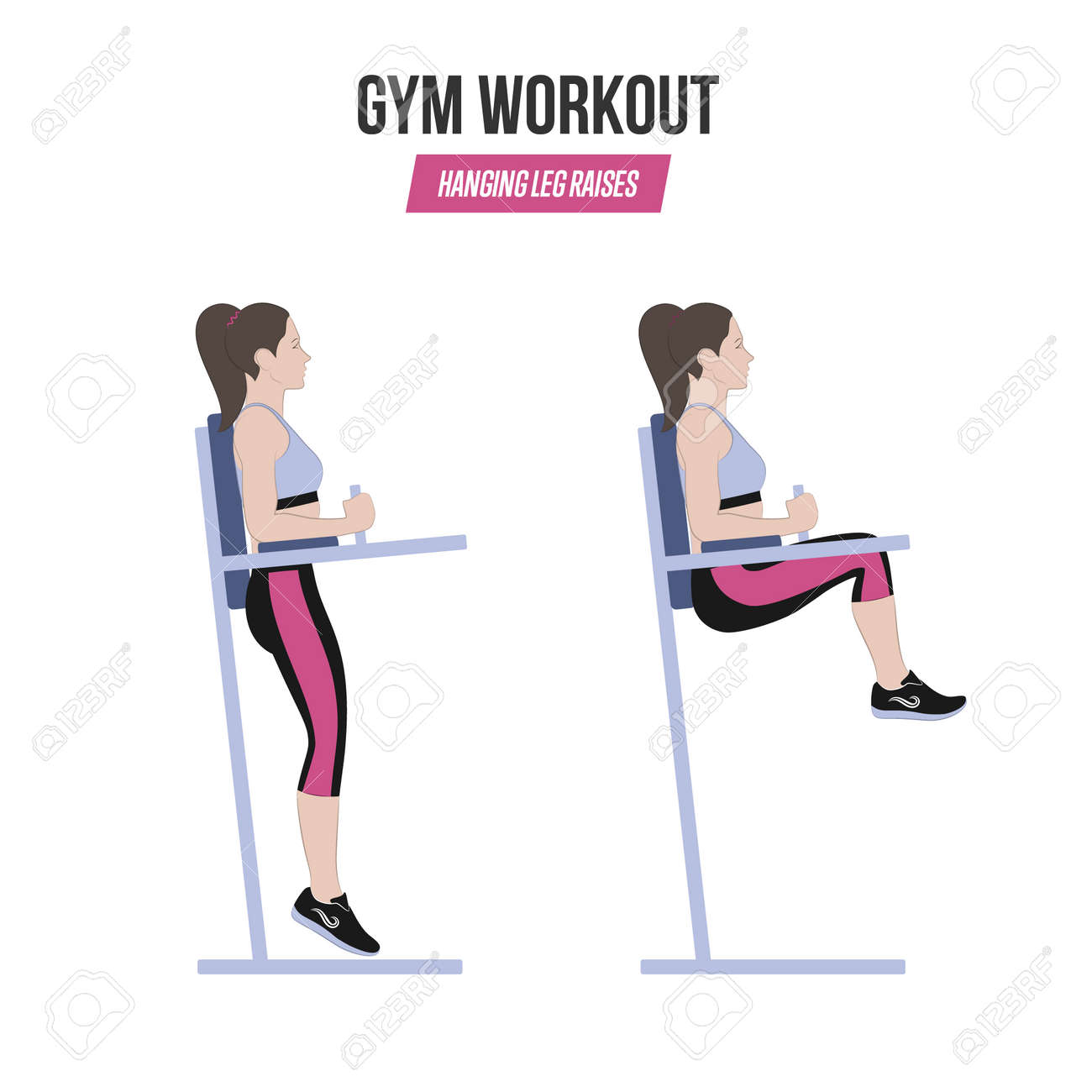 Chair Exercise Sport Exercises Gym Workout Hanging Leg Raises Captains Chair