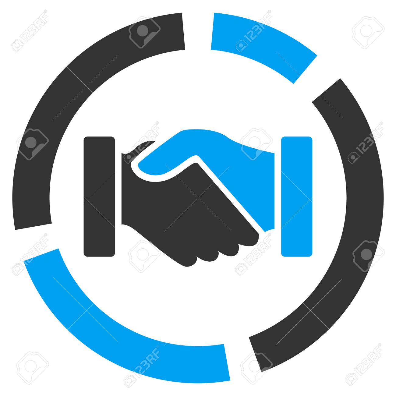hight resolution of acquisition diagram icon from business bicolor set vector style is bicolor flat symbol blue
