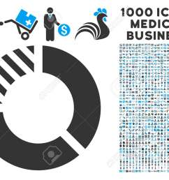 pie chart icon with 1000 medical commerce gray and blue glyph pictographs clipart style is [ 1300 x 975 Pixel ]