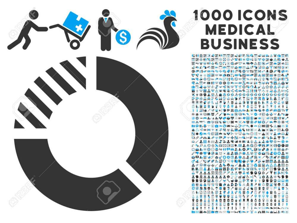 medium resolution of pie chart icon with 1000 medical commerce gray and blue glyph pictographs clipart style is