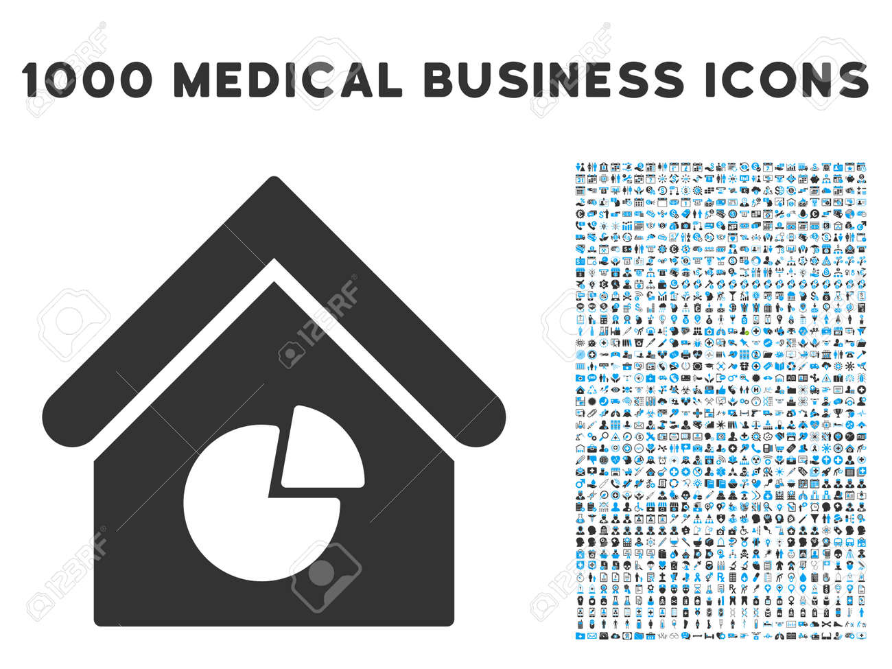 hight resolution of realty pie chart icon with 1000 medical commerce gray and blue glyph design elements clipart