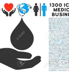 blood donation hand gray vector icon with 1300 healthcare commerce pictographs clipart style is flat [ 1300 x 975 Pixel ]