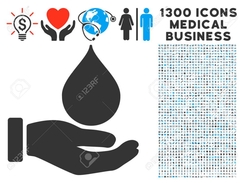 medium resolution of blood donation hand gray vector icon with 1300 healthcare commerce pictographs clipart style is flat