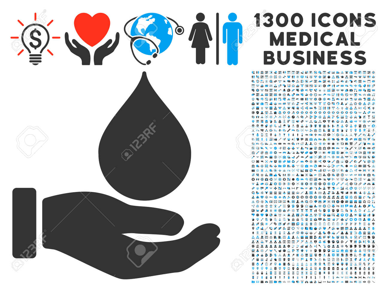 hight resolution of blood donation hand gray vector icon with 1300 healthcare commerce pictographs clipart style is flat