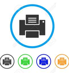 printer rounded icon style is a flat printer gray symbol inside light blue circle with [ 1300 x 832 Pixel ]