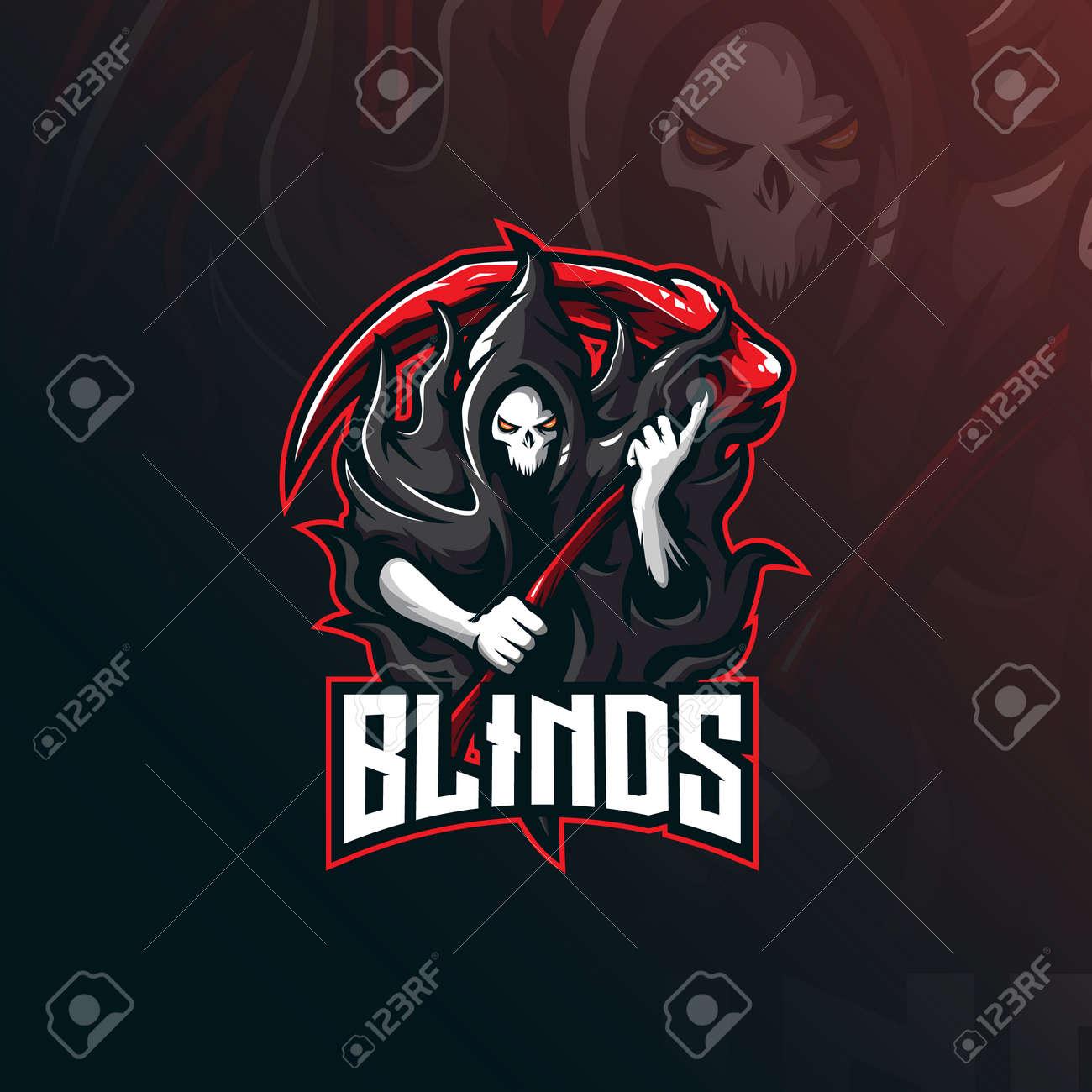 skull blind mascot logo