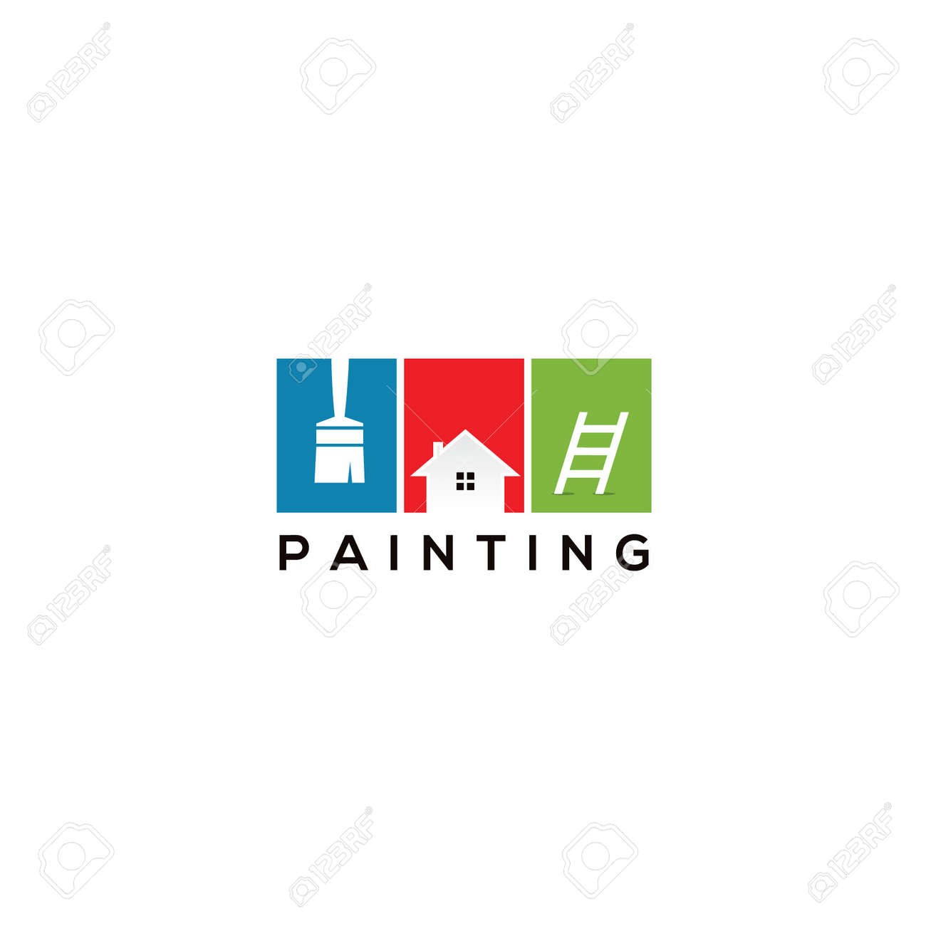 house paint logo design