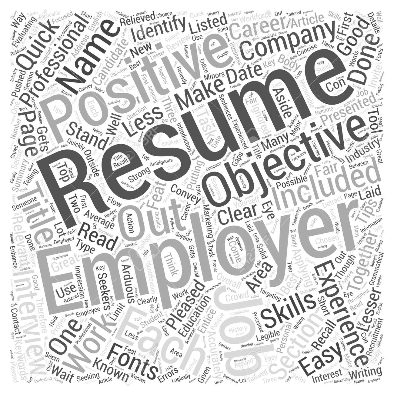 Resume Writing Tips Quick Resume Writing Tips Evaluating Your Resume Word Cloud Concept