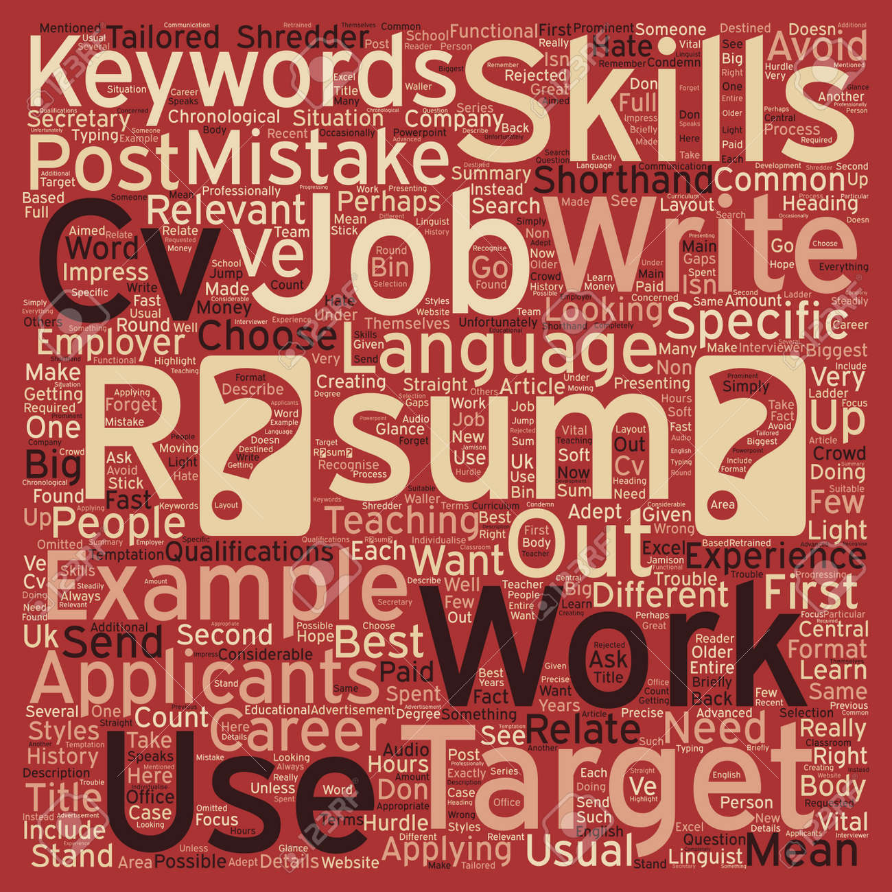 Resume Writing Common Mistakes And How To Avoid Them Text Background ...