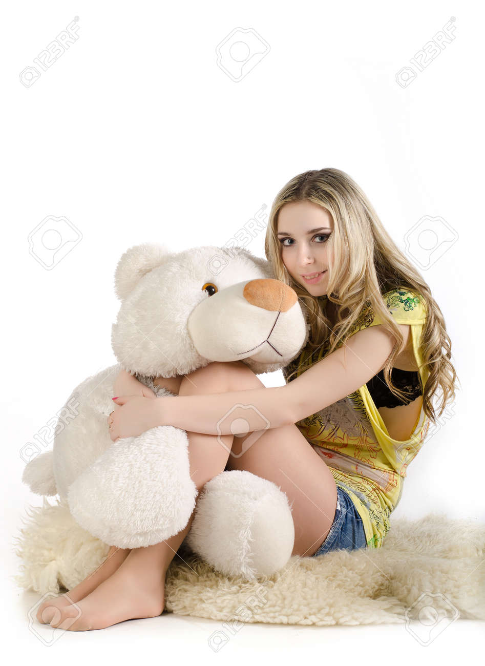Bildresultat för woman posing with teddy bear