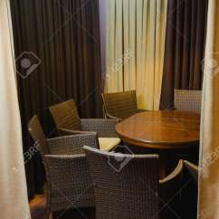 Just Chairs And Tables Ergonomic Lounge Chair Decoration Furniture In Cafe Details Of An Interior A Small