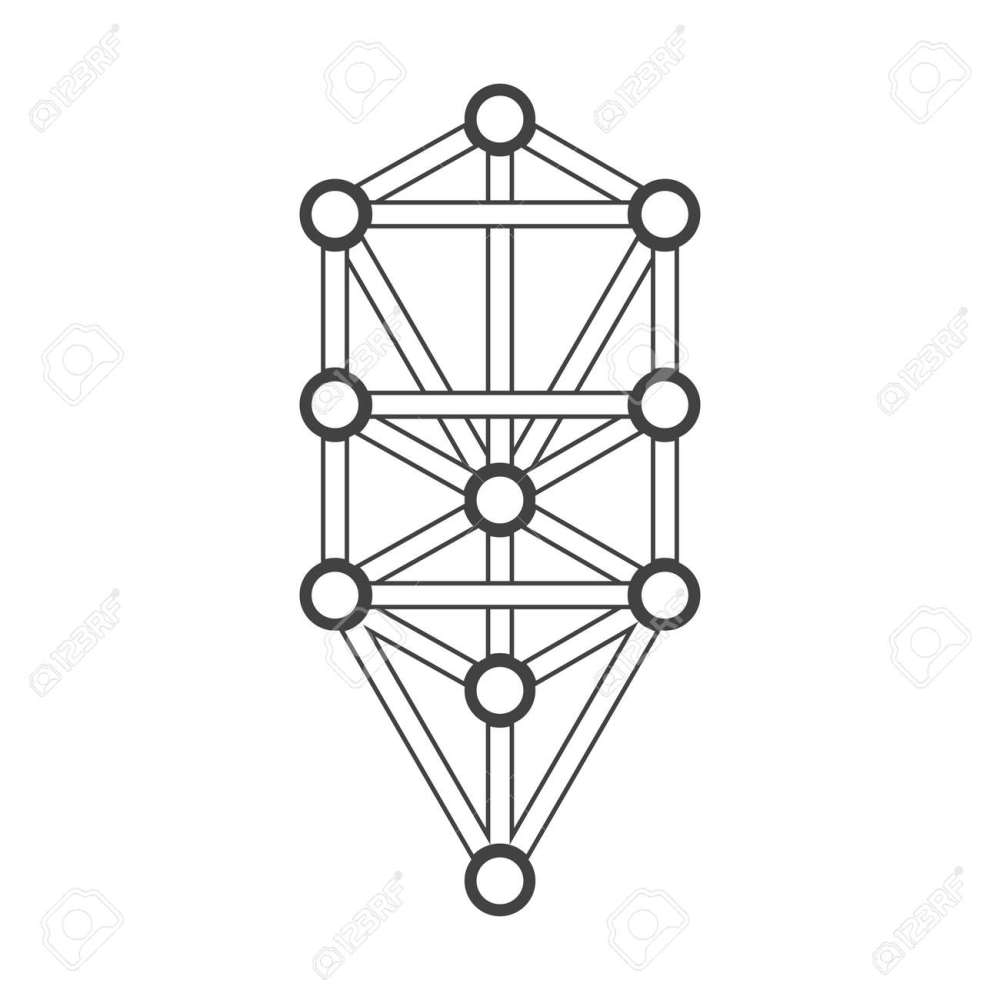 medium resolution of vector vector black outline tree of life illustration kabbalah diagram isolated white background