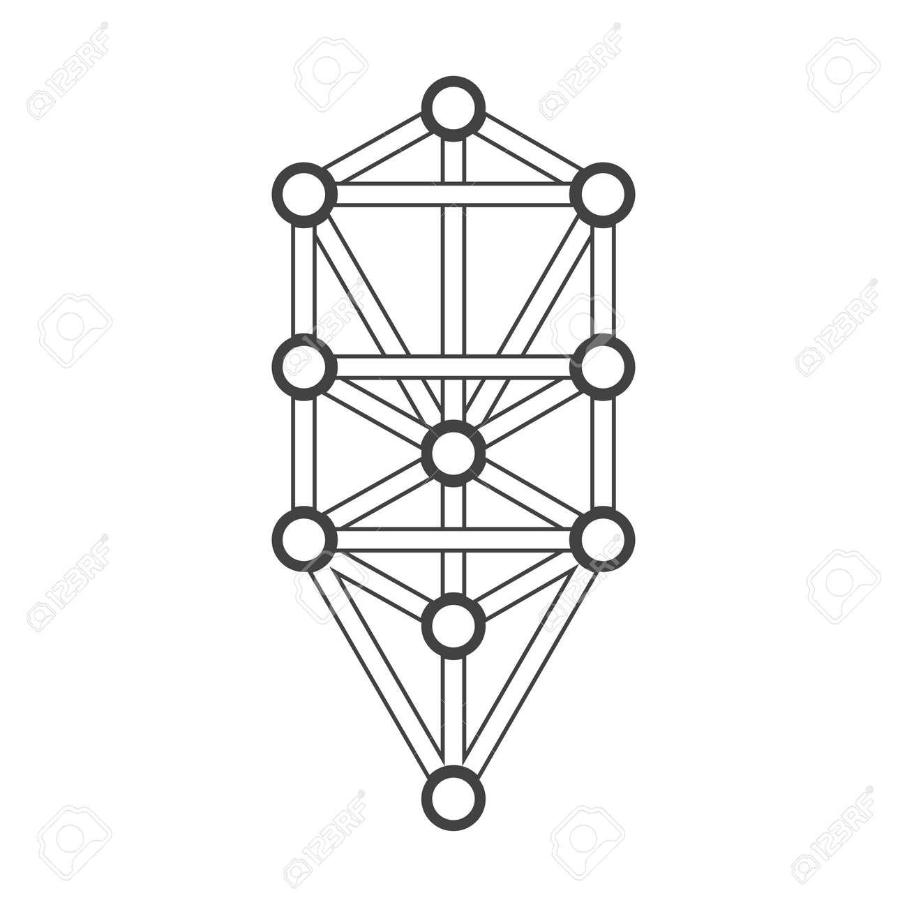 hight resolution of vector vector black outline tree of life illustration kabbalah diagram isolated white background