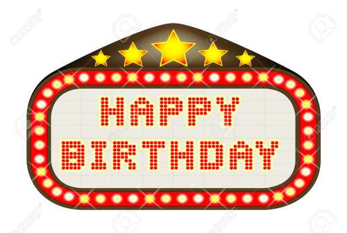 small resolution of a happy birthday movie theatre or theatre marquee stock vector 60709376