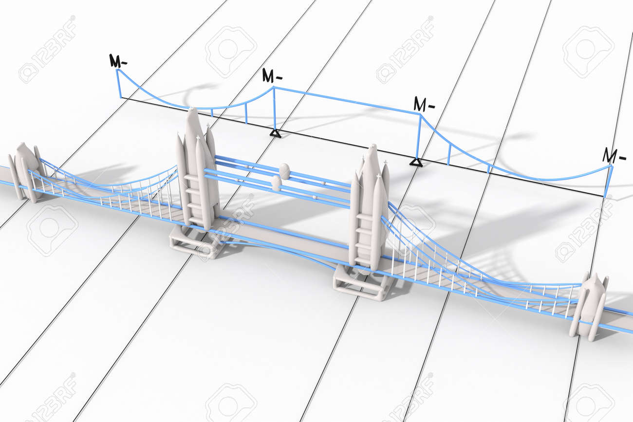 hight resolution of stock photo tower bridge london with 3d diagram of the static moments