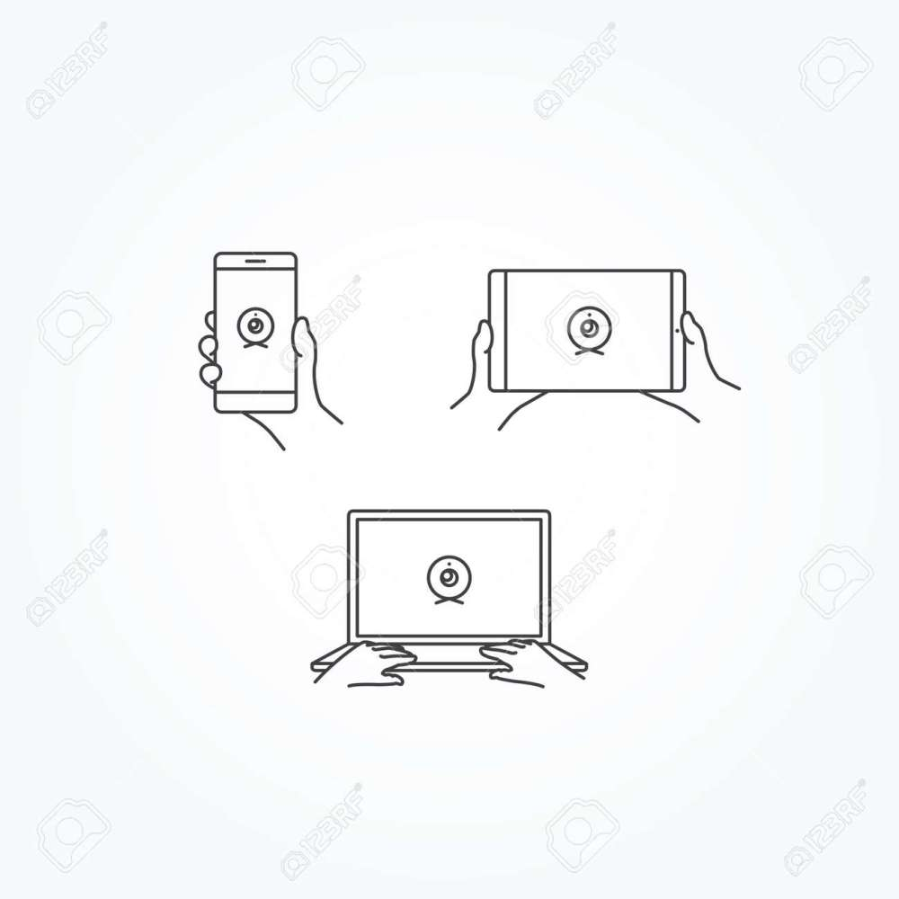 medium resolution of webcam icon on phone tablet laptop stock vector 55848991