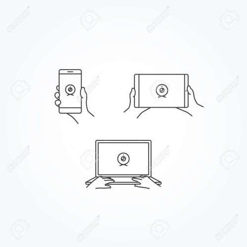 small resolution of webcam icon on phone tablet laptop stock vector 55848991