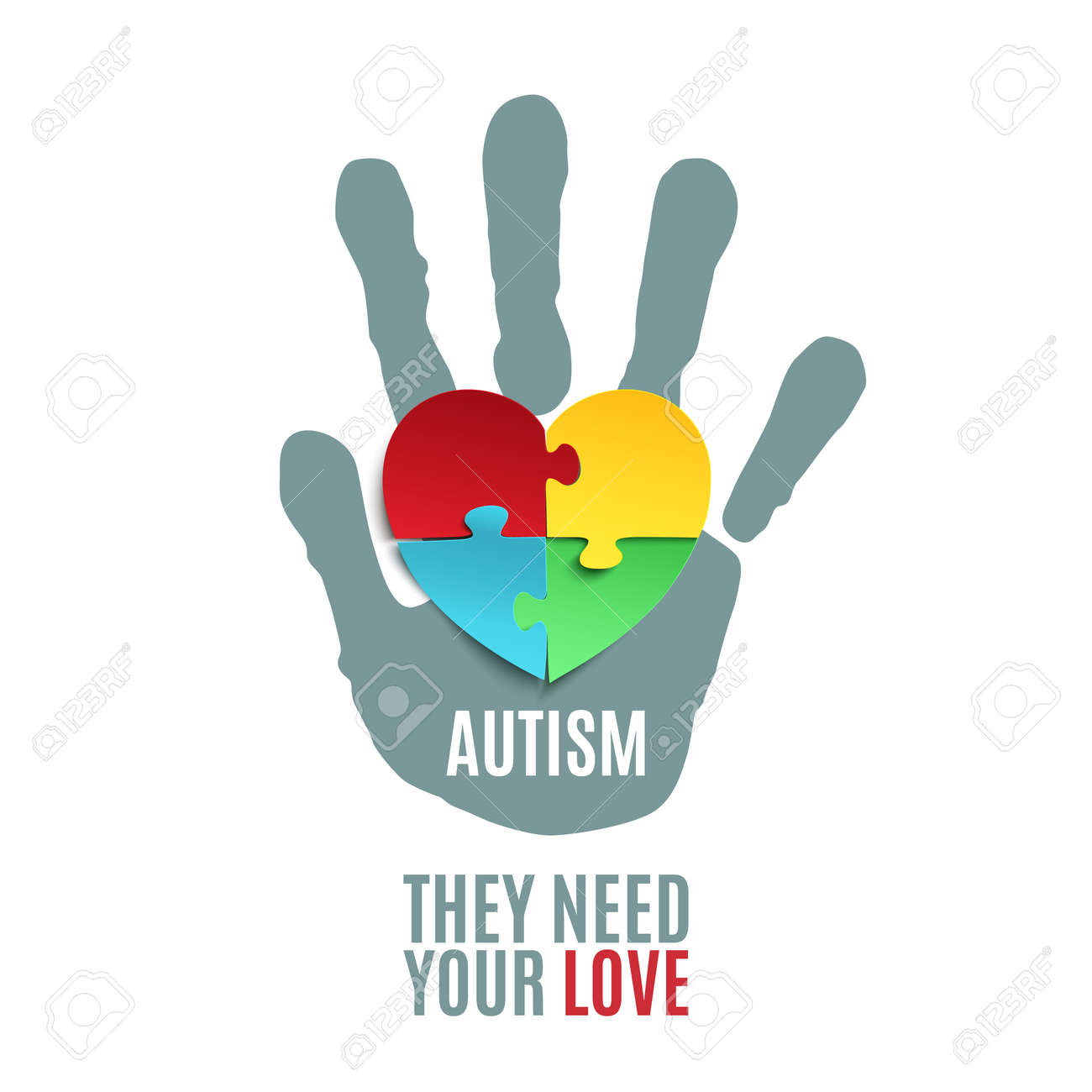 hight resolution of they need your love autism awareness poster or brochure template jigsaw puzzle pieces in