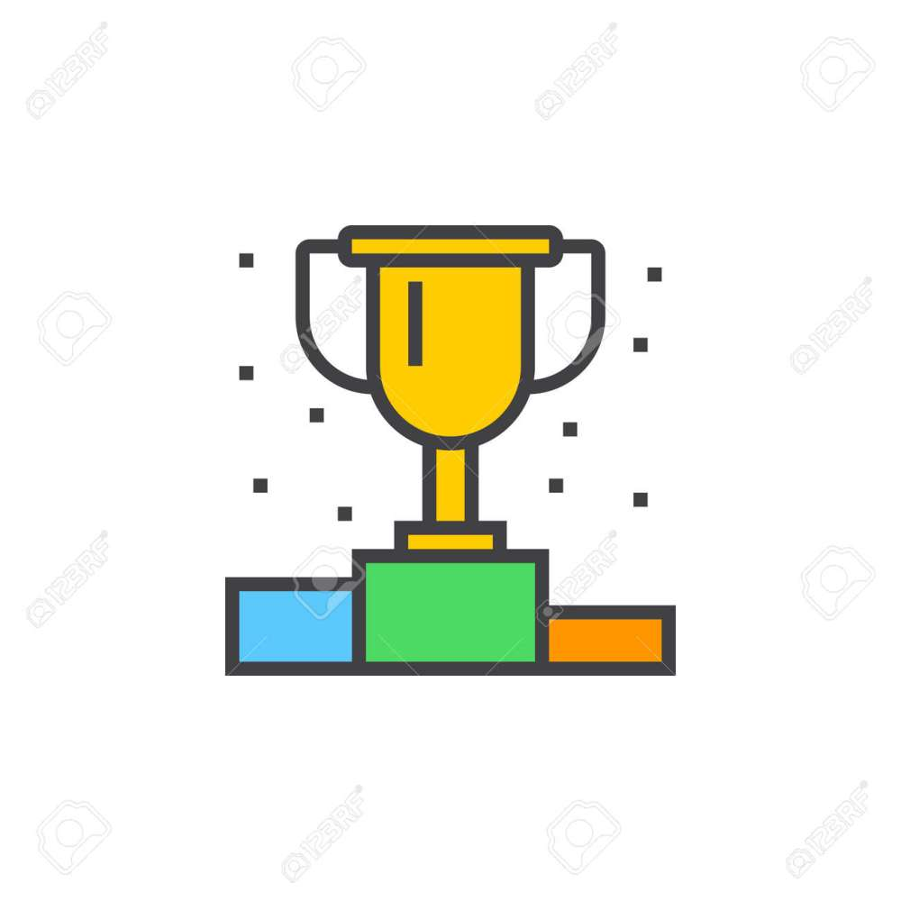 medium resolution of vector winner podium line icon first place cup filled outline vector sign linear colorful pictogram isolated on white logo illustration