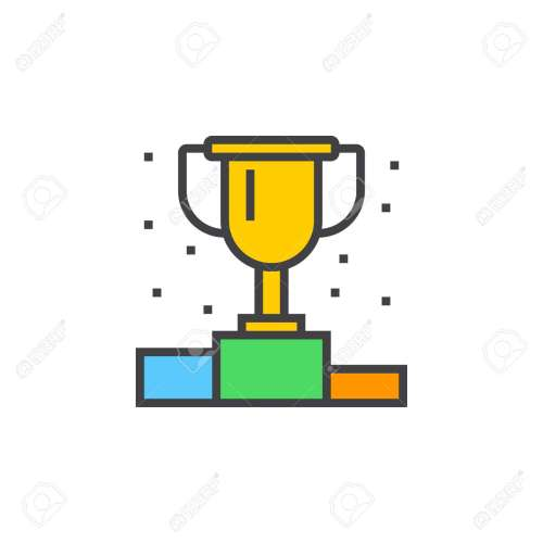 small resolution of vector winner podium line icon first place cup filled outline vector sign linear colorful pictogram isolated on white logo illustration