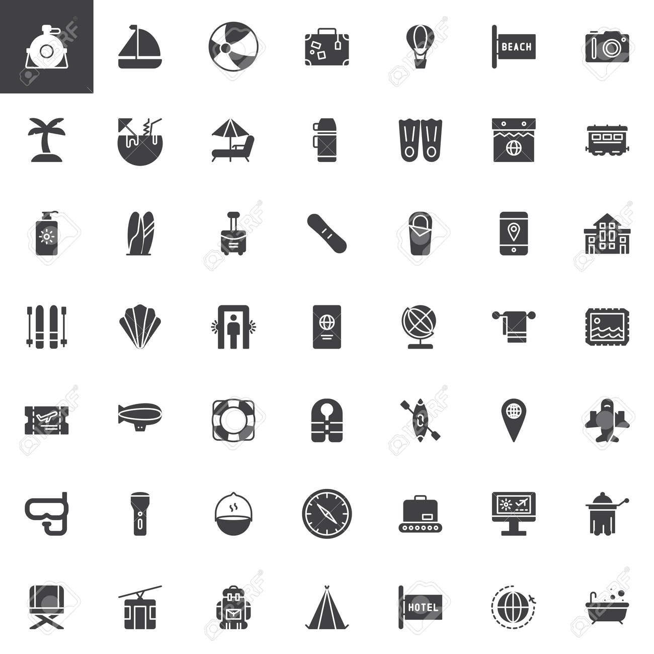 universal travel vector icons