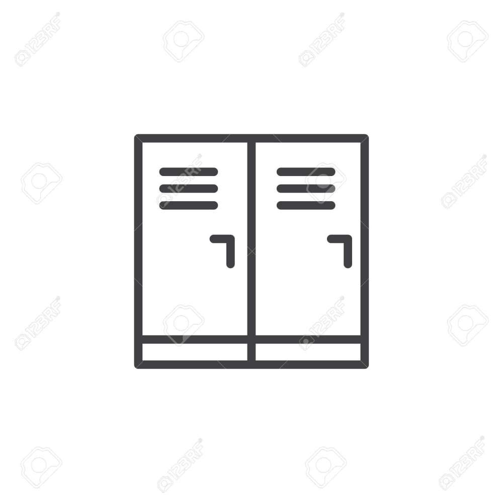 medium resolution of locker room outline icon linear style sign for mobile concept and web design school
