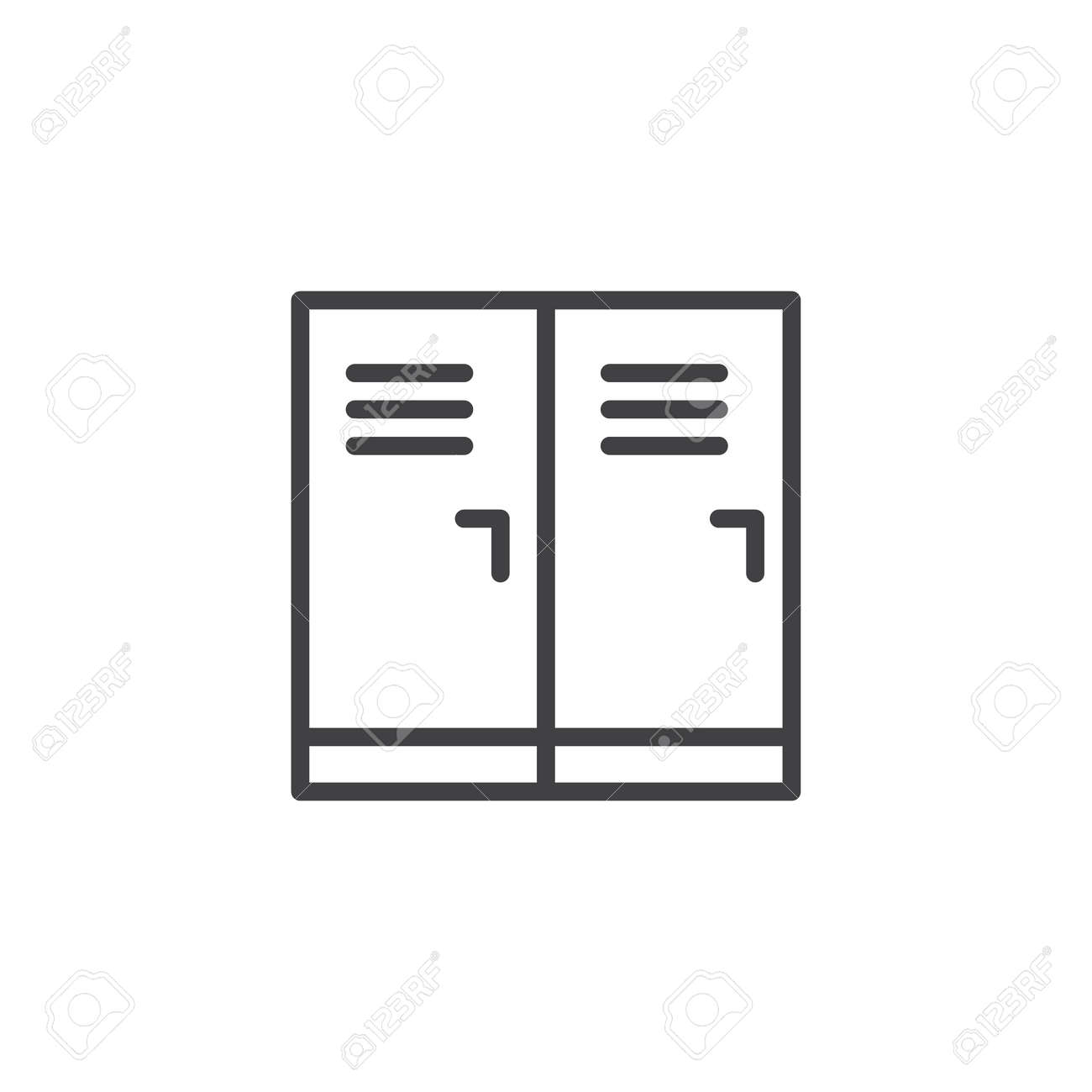 hight resolution of locker room outline icon linear style sign for mobile concept and web design school